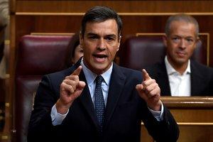 Pedro Sánchez, en el Congreso de los Diputados, el pasado 18 de septiembre.