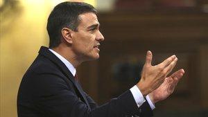 Pedro Sánchez en el debate.