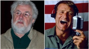 El periodista Adrian Cronauer  y el actor Robin Williams