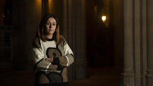 La periodista kurda Amina Hussein, este jueves, en Barcelona.