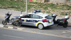 Policía local de Valencia.
