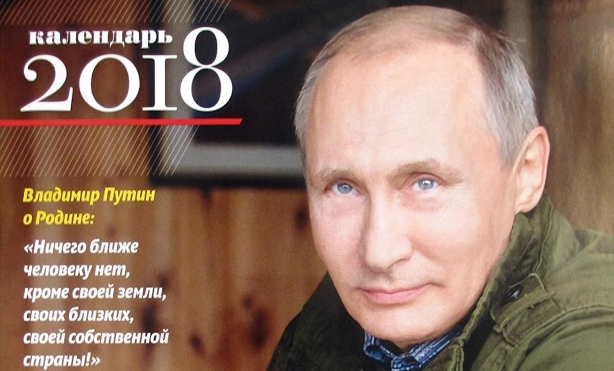 Portada del calendario del 2018 de Putin.