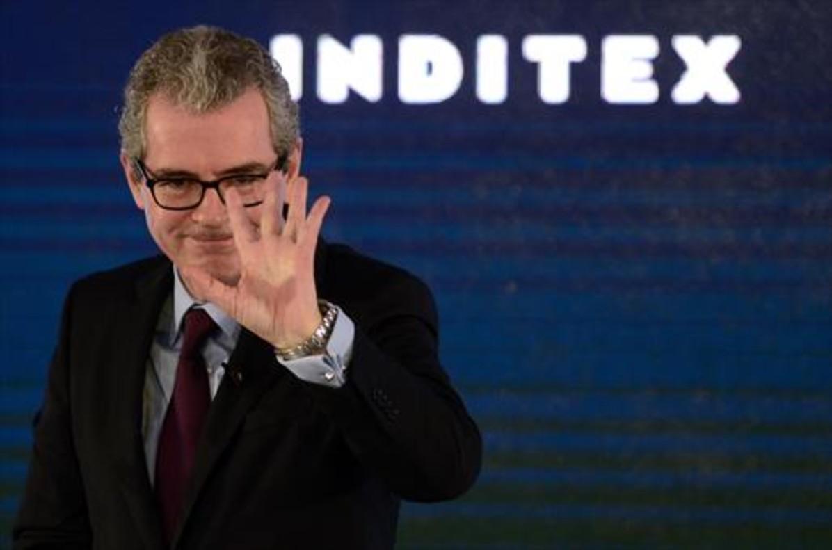 El presidente de Inditex, Pablo Isla, en la presentación de los resultados del 2016, el pasado 15 de marzo.