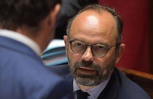 El primer ministro francés, Edouard Philippe,durante una sesión en la Asamblea Nacional, en París.