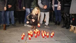 Protesta en Sant Adrià por el nuevo crimen machista.