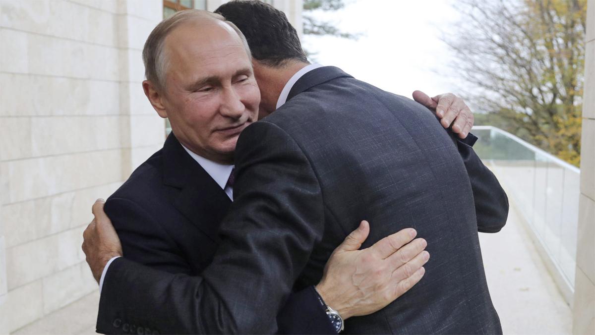 Putin durante la reunión con Asad en Sochi.