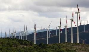 Parque eólico de Gamesa en el norte de Marruecos.