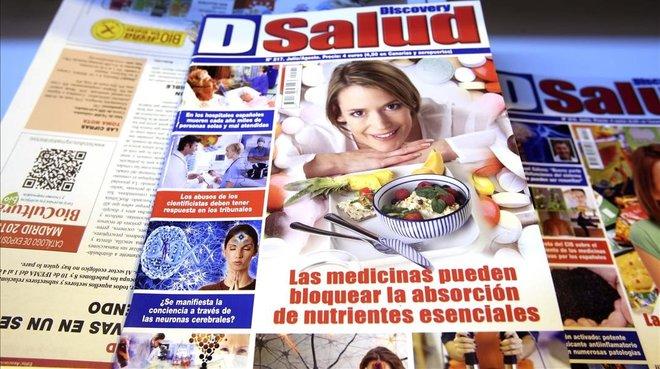 Revistas que promocionan las pseudoterapias, en una feria de Madrid.