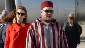 El rey Mohamed VI y su esposa, la princesa Lalla Salma.