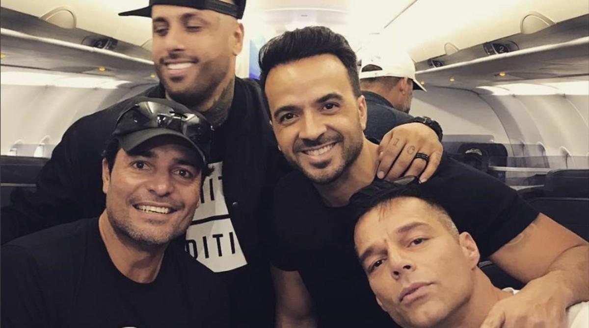 Ricky Martin viaja a Puerto Rico con Chayanne, Luis Fonsi y Nicky Jam.