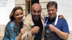 Chenoa, Llucià Ferrer y Carlos Latre, en 'Rols de parella' (TV-3).