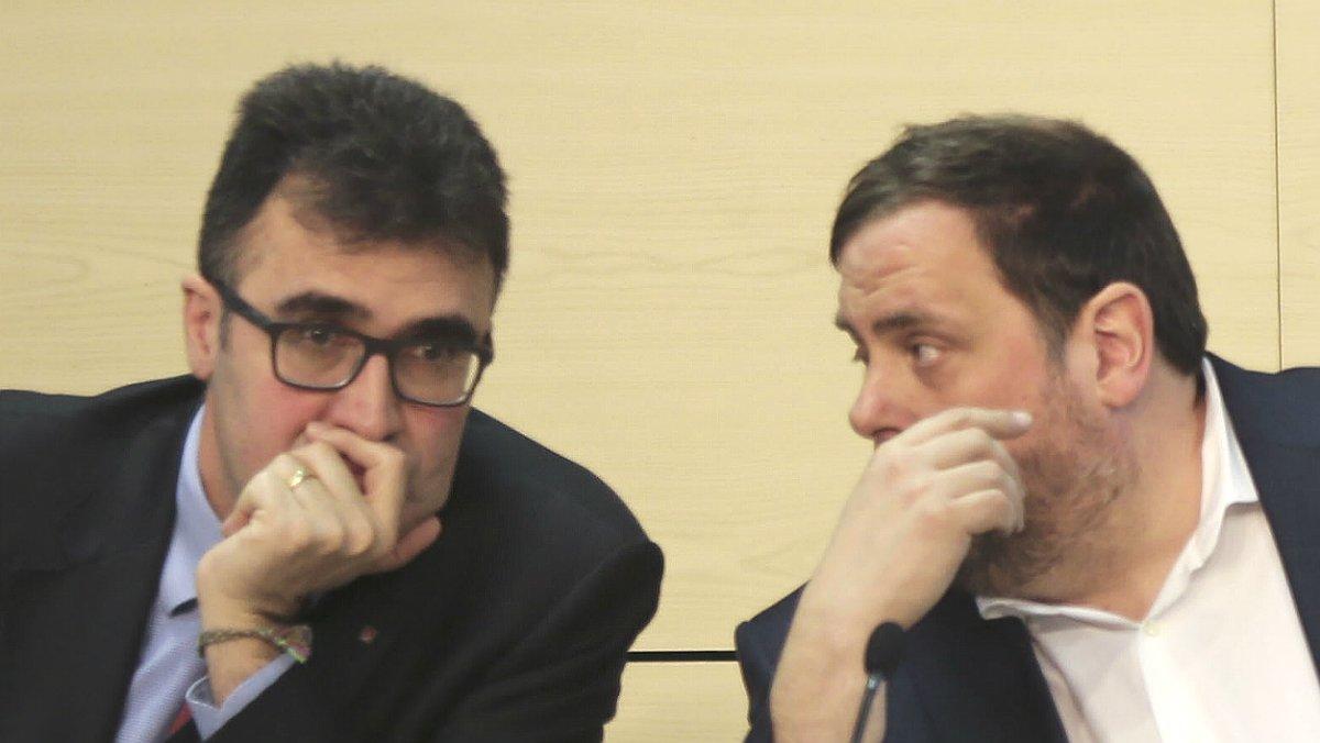 Lluís Salvadó y Oriol Junqueras.