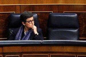 GRAF2701. MADRID, 19/02/2020.- La ministra de Exteriores, Arancha González Laya durante la sesión de control celebrada este miércoles en el Congreso de los diputados en Madrid. EFE/Ballesteros