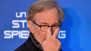 Steven Spielberg, el pasado 21 de marzo, en el estreno en Roma de 'Ready player one'