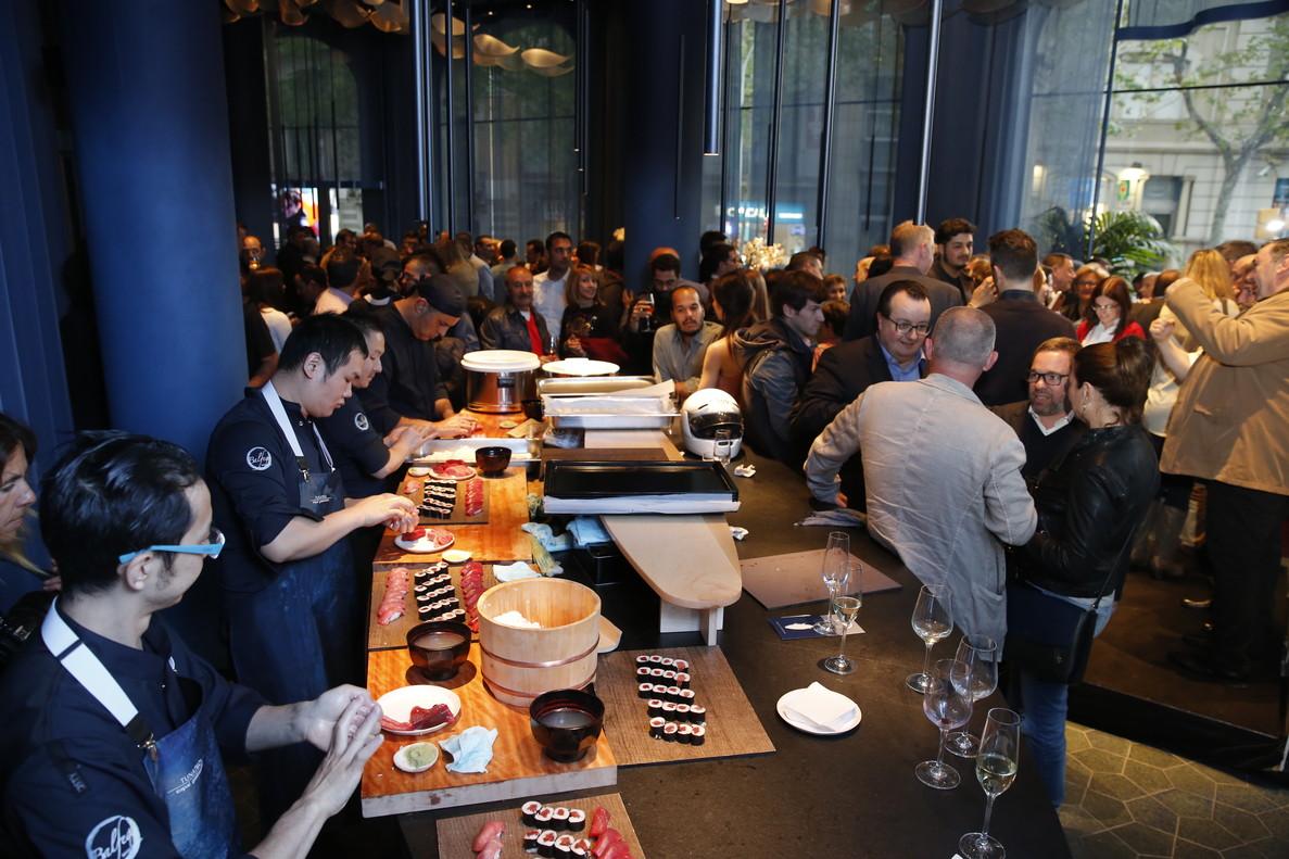 Tunateca Balfegó Espai Gastronòmic, durante la inauguración, este lunes en Barcelona.