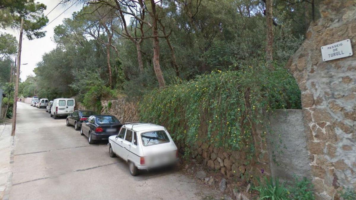 Un trozo del paseo Turull, en Vallcarca i els Penitents