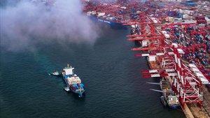 Puerto de Qingdao, en la provincia china de Shandong, el pasado 17 de mayo.