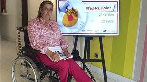 Elisa Fernández sufrió un accidente en unas escaleras mecánicas ylleva 21 años padeciendo un dolor crónico.
