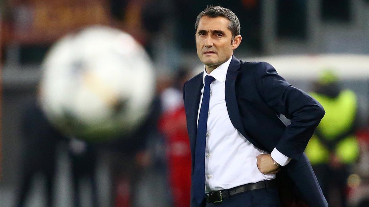 Valverde, en el estadio Olímpico de Roma.
