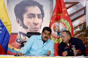 El presidente de Venezuela, Nicolas Maduro , con el expresidente de la Asamblea Nacional Diosdado Cabello.