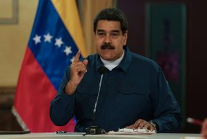 Venezuela s President Nicolas Maduro speaks during a meeting with ministers at the Miraflores Palace in Caracas Venezuela August 13 2018 Miraflores Palace Handout via REUTERS ATTENTION EDITORS - THIS PICTURE WAS PROVIDED BY A THIRD PARTY