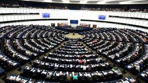 Vista del interior del Parlamento Europeo en Estrasburgo.