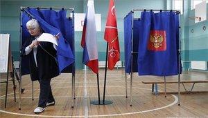 Las votaciones en Rusia.