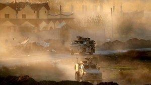 Vehículos militares estadounidenses en Siria el pasado 15 de diciembre.