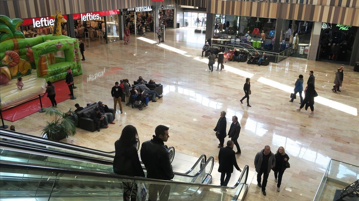 Centro comercial de La Jonquera, en una imagen de archivo.