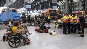 Les imatges de l'accident de tren de l'estació de França