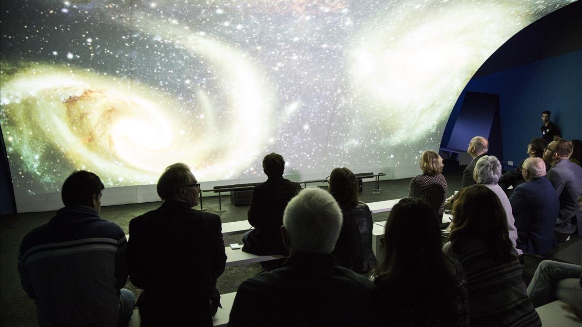 Presentación en el Museu Blau de Barcelona de la exposición 'Oceans, l'últim territori salvatge'.