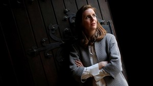 Catherine Nixey, durante su visita a Madrid de promoción de La edad de la penumbraMadrid.