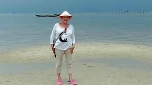 Anna Navau, de 73 años, en Vietnam.