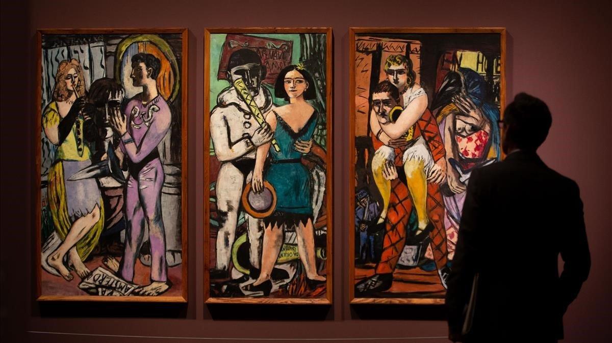 Una obradel artista Max Beckmann, en el Caixa-Forum de Barcelona