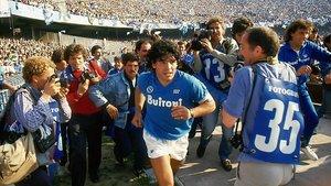 Diego Armando Maradona, en su época dorada en el Nápoles.