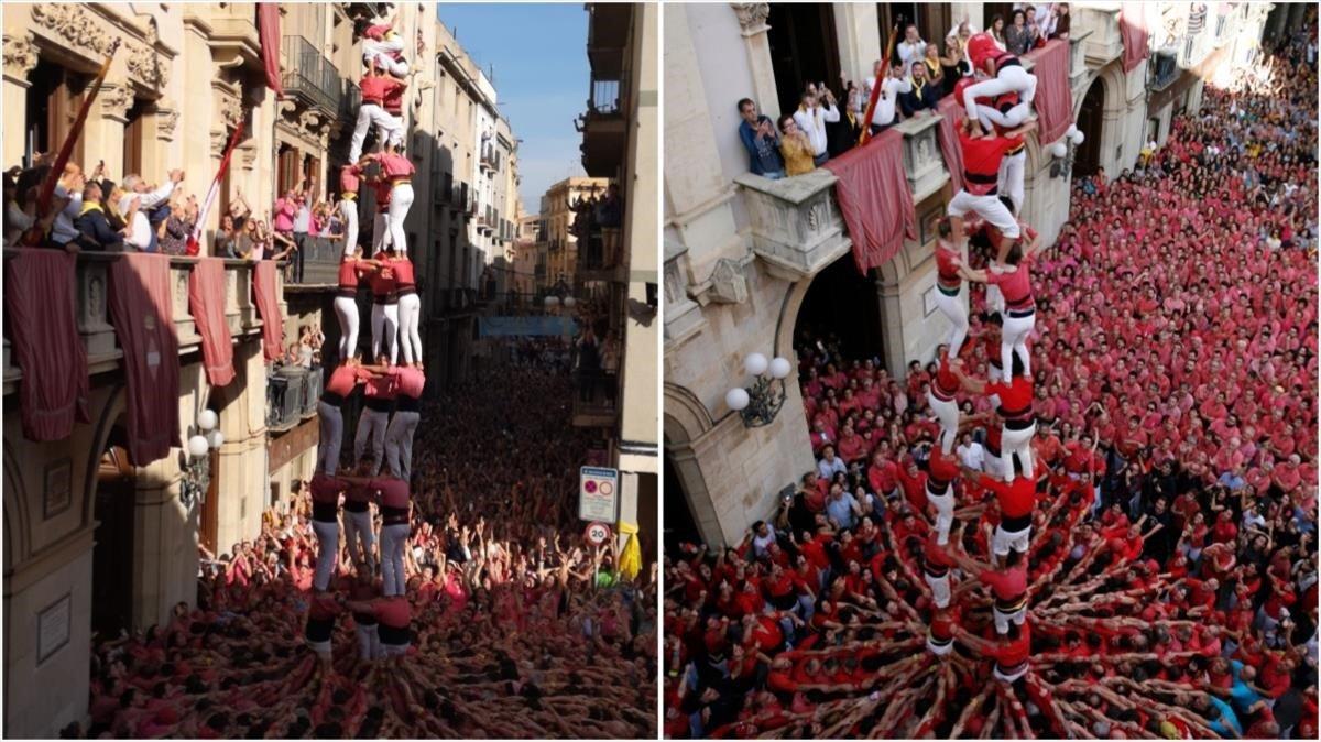 Les colles castelleres de Valls fan història per partida doble