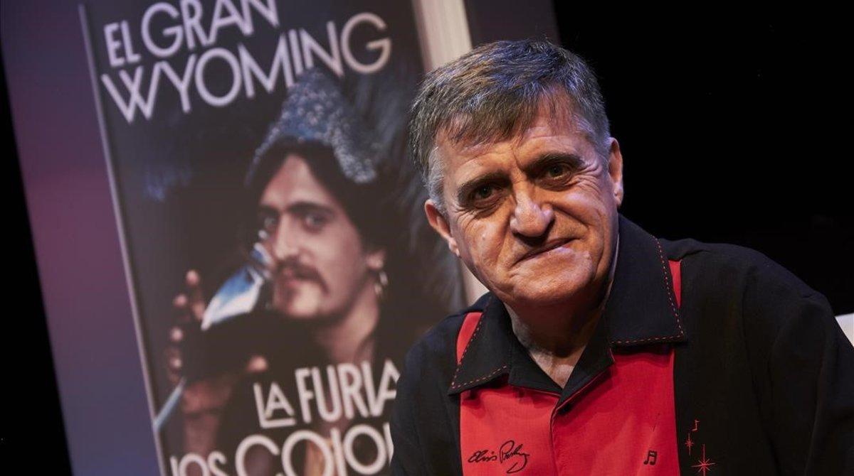 El Gran Wyoming, en la presentación del libro, este miércoles en Madrid.