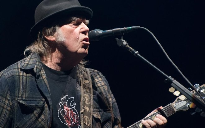 El músico Neil Young, en el Festival d'Ete deQuebec.