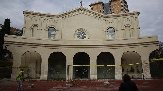 La iglesia de Sant Rafael, ayer.
