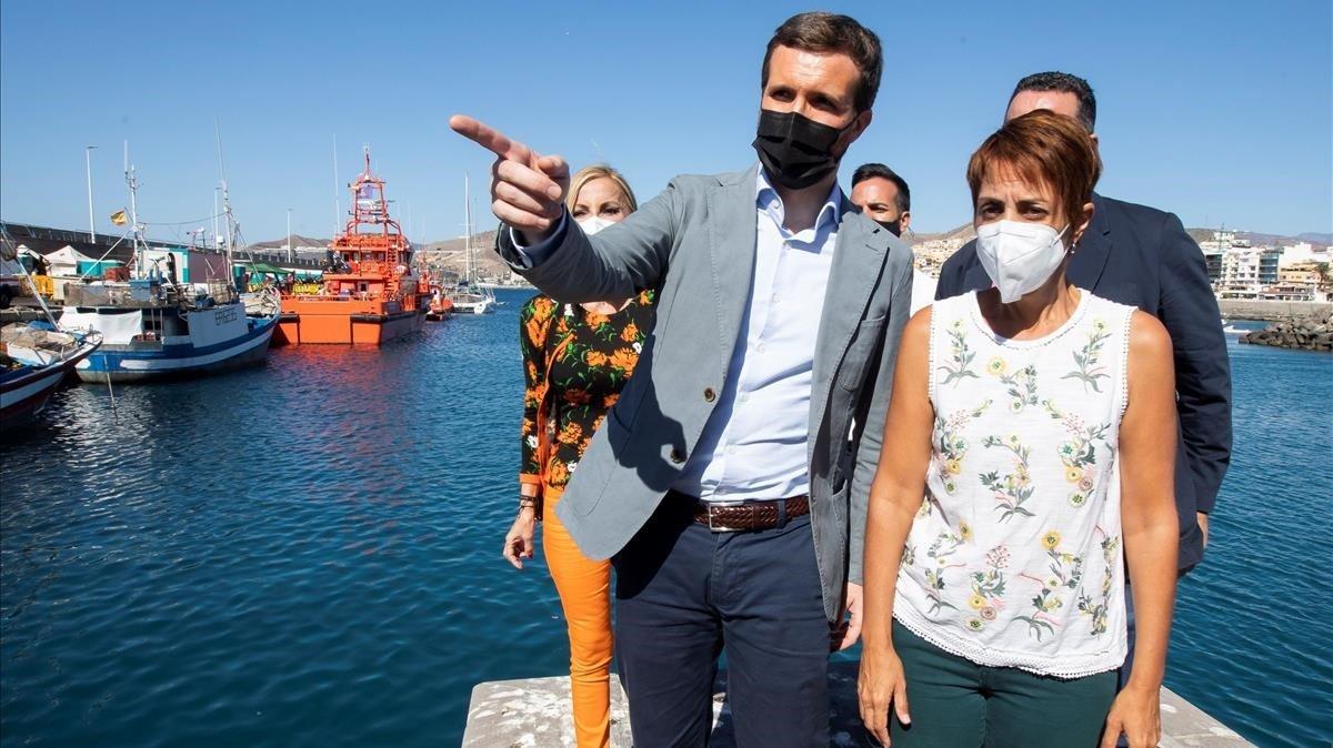 Casado responsabilitza el Govern del «col·lapse» migratori de les Canàries