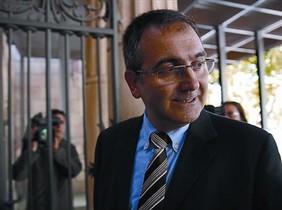 Josep Tous, ayer al entrar a declarar en el Palau de la Justícia de Barcelona.