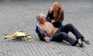Presentació del drone ambulància al campus de la Universitat de Delft, aquest dimarts.