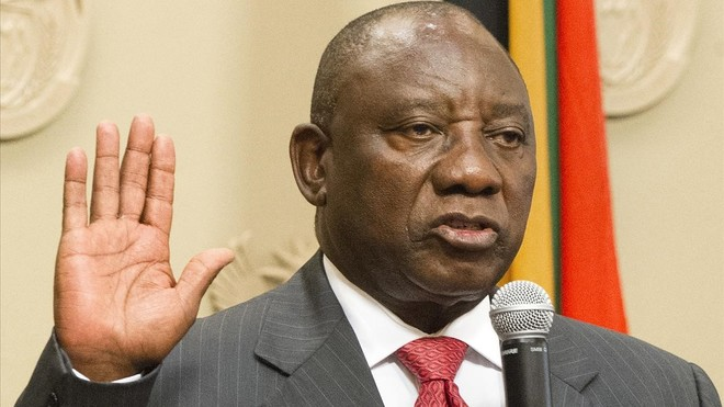 Cyril Ramaphosa, designado nuevo presidente de Sudáfrica