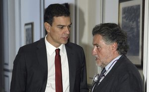 Pedro Sánchez y Pepu Hernández, en octubre del 2014.