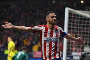 Koke celebra un gol de Atlético ante el Villarreal.