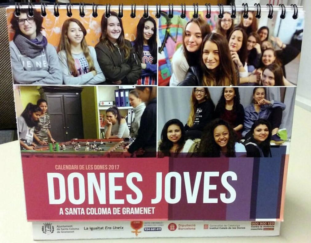 Una imagen del nuevo Calendario de las Mujeres de Santa Coloma de Gramenet.