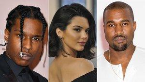 A$AP Rocky, su ex Kendall Jenney y Kanye West.
