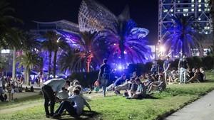 Batuda nocturna a la Barceloneta