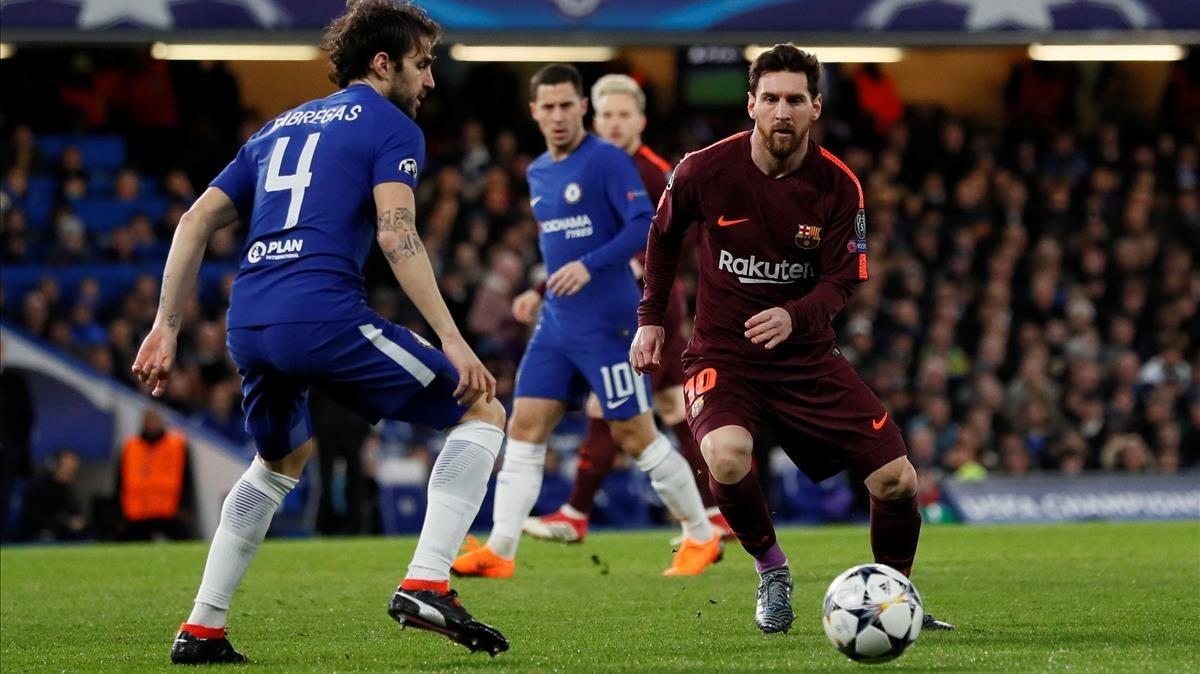 Messi dona vida al Barça contra el Chelsea