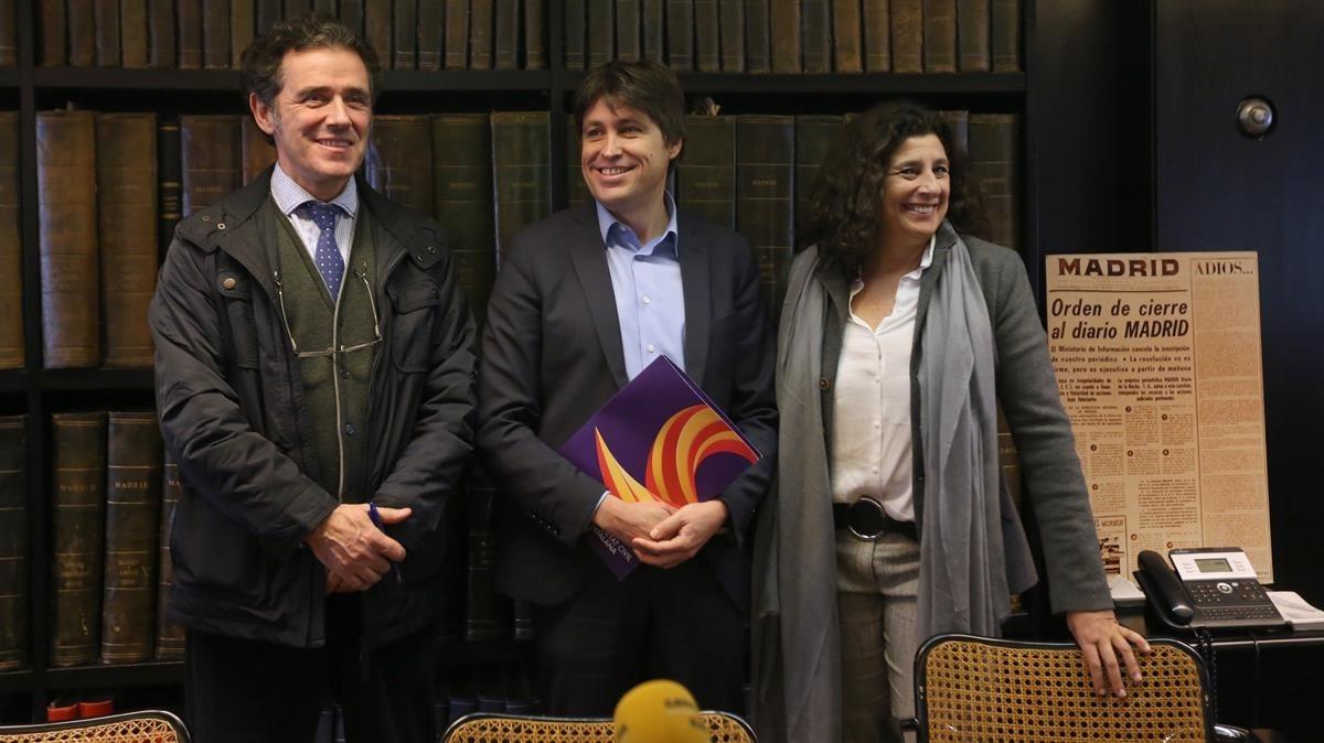 Alex Ramos, José Rosiñol y Miriam Tey.
